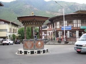 ブータンに唯一ある手信号の交差点