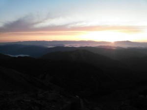 白山の日出