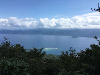 栄螺ヶ岳の山頂からの水島